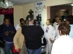 Laura Pollán asediada por algunos integrantes de la prensa extranjera acreditada en Cuba.