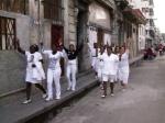 Llegada del tercer y último grupo de Las Damas de Blanco, encabezado por Bertha Soler.