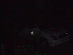 Zoom del acecho policial nocturno
