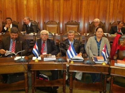 Representantes de partidos políticos cubanos